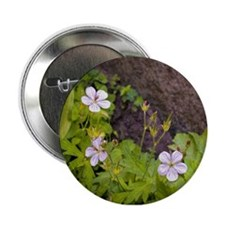 """Woodland Flowers 2.25"""" Button"""
