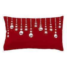 Skull Dangles Christmas Red Pillow Case