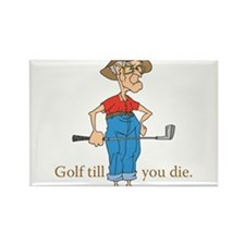 Unique Golf design Rectangle Magnet (10 pack)