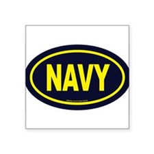 "Cute Navy Square Sticker 3"" x 3"""