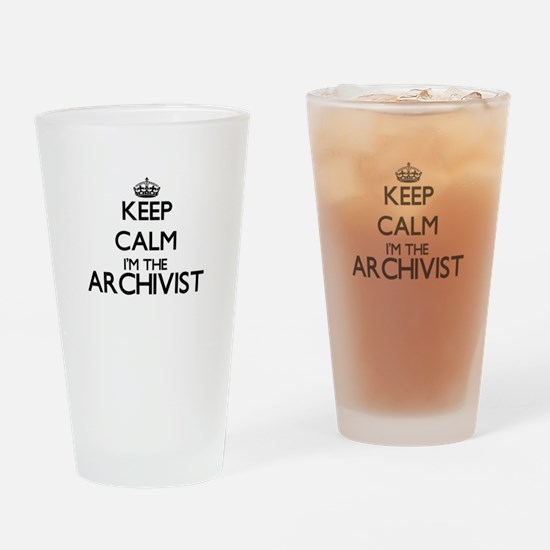 Keep calm I'm the Archivist Drinking Glass