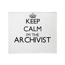 Keep calm I'm the Archivist Throw Blanket