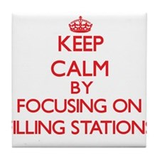 Keep Calm by focusing on Filling Stat Tile Coaster