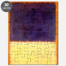rothko-orange box with purple & yellow Puzzle