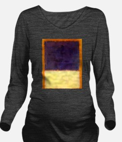 rothko-orange box with purple & yellow Long Sleeve
