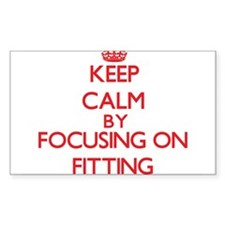 Keep Calm by focusing on Fitting Decal