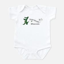 Happy Birthday Shannon (gator Infant Bodysuit