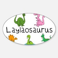Laylaosaurus Oval Decal