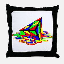 Pyraminx cude painting01B Throw Pillow