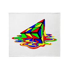 Pyraminx cude painting01B Throw Blanket