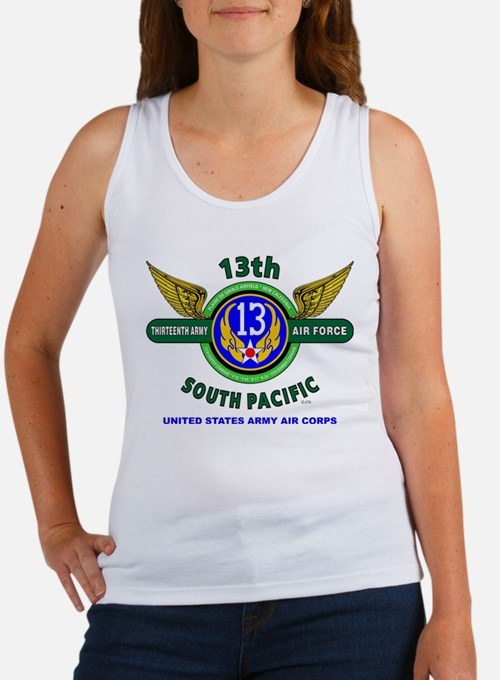 13TH ARMY AIR FORCE* ARMY AIR CORPS* WORL Tank Top