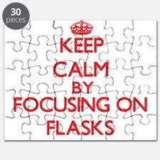 Keep Calm by focusing on Flasks Puzzle