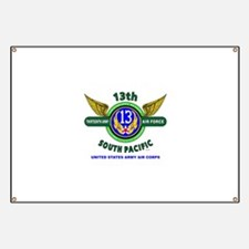 13TH ARMY AIR FORCE* ARMY AIR CORPS* WORLD Banner