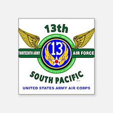 13TH ARMY AIR FORCE* ARMY AIR CORPS* WORLD Sticker