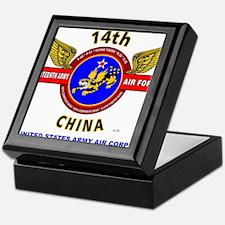 14TH ARMY AIR FORCE, ARMY AIR CORPS* Keepsake Box