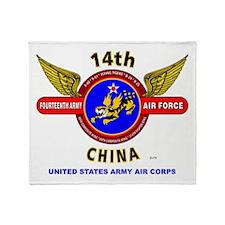 14TH ARMY AIR FORCE, ARMY AIR CORPS Throw Blanket