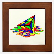 Pyraminx cude painting01B Framed Tile