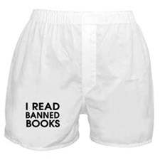 I read banned books Boxer Shorts
