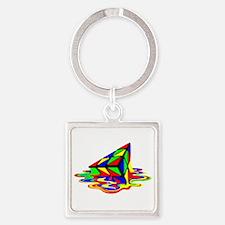 Pyraminx cude painting01B Keychains