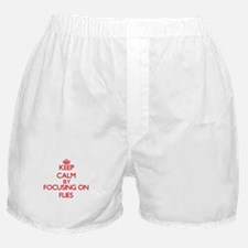 Keep Calm by focusing on Flies Boxer Shorts