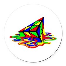 Pyraminx cude painting01B Round Car Magnet
