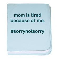 Sorrynotsorrymom Blue baby blanket