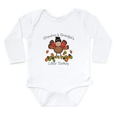 Unique Turkey girl Long Sleeve Infant Bodysuit