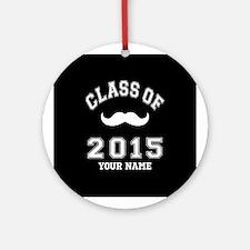 Class Of 2015 Mustache Ornament (Round)