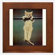 Hang in There Baby! Framed Tile