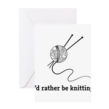 I'd rather be knitting Greeting Cards