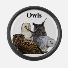 Owls Large Wall Clock