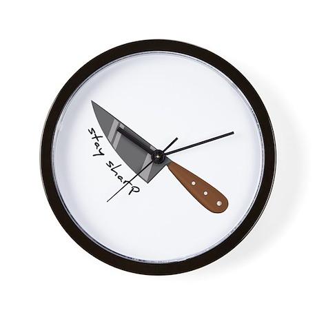 Stay Sharp Wall Clock