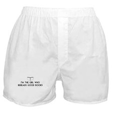 I'm the girl who rereads good books Boxer Shorts