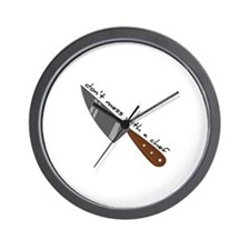 Mess With Chef Wall Clock