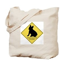 French Bulldog crossing Tote Bag