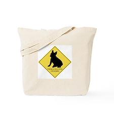 French Bulldog crossing Tote Bag