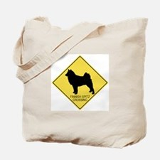 Finnish Spitz crossing Tote Bag