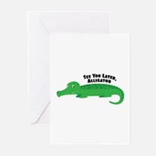 Later Alligator Greeting Cards