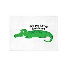 Later Alligator 5'x7'Area Rug