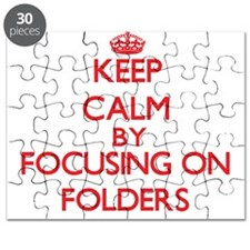 Keep Calm by focusing on Folders Puzzle