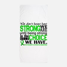 NH Lymphoma HowStrongWeAre Beach Towel