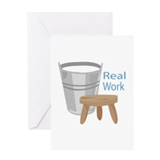 Real Work Greeting Cards