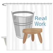 Real Work Shower Curtain