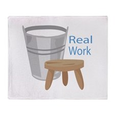 Real Work Throw Blanket