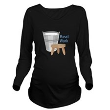 Real Work Long Sleeve Maternity T-Shirt