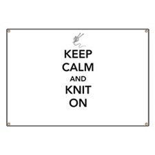 Keep calm and knit on Banner