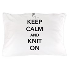 Keep calm and knit on Pillow Case