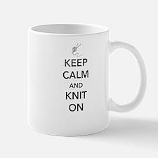 Keep calm and knit on Mugs