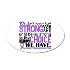 Hodgkin's Disease HowStrongW Wall Decal