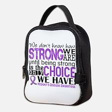 Hodgkin's Disease HowStrongWeAr Neoprene Lunch Bag